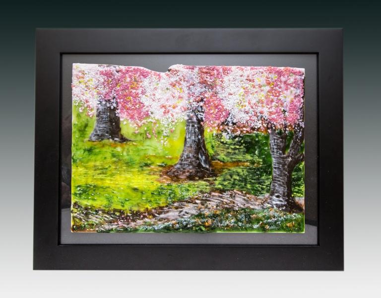cherry trees gradient